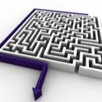 Maze PowerPoint Background 10