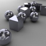Shiny Shapes PowerPoint Background 1
