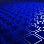 Blue Squares PowerPoint Background 01
