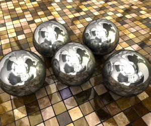 Chrome Balls HTC Desire Background